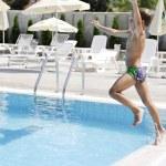 Children on swimming pool — Stock Photo