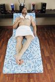 Man relaxing at spa — Stock Photo