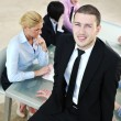 Young business man in the office room — Stock Photo #5150209