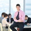 Young business man in the office room — Stock Photo