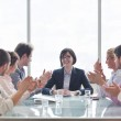 Young business man talk by cellphone — Stock Photo