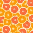Royalty-Free Stock Photo: Orange and grapefruit peaces