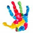 Color child hand print — Stock Photo