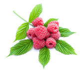 Heap of ripe raspberries — Stock Photo