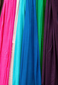 Colorful fabric samples — Stock Photo
