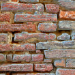 High resolution red brick wall — Photo