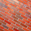 Diagonal brick wall — Stock Photo