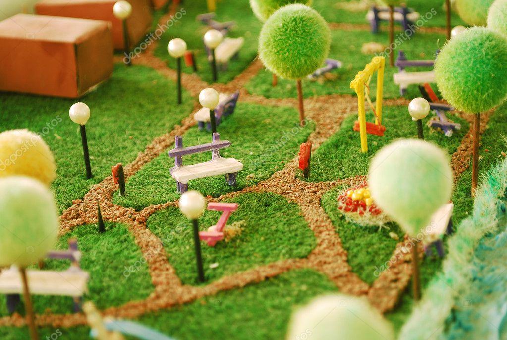 Jardim em miniatura fotografias de stock tony4urban for Maquetas de jardines