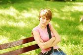 Příležitostná dívka — Stock fotografie