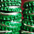 Pile of green beer caps — Stock Photo #3900770