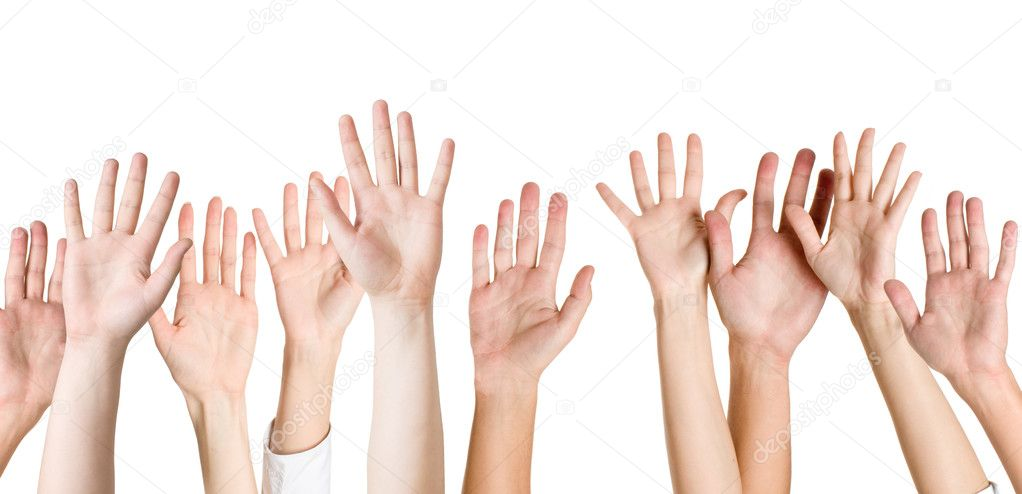 Human hands isolated on white — Stock Photo #2866696