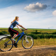 Girl biking - Stock Photo