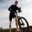 Man biking - Stock Photo