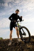 Man biking — Stock Photo