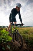 骑自行车的人 — 图库照片