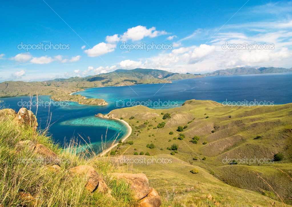 Idyllic tropical landscape in Indonesia — Stock Photo #3478213