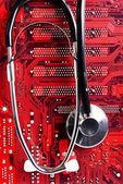 Komputer zdrowia — Zdjęcie stockowe