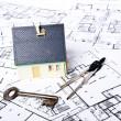 Plans house — Stock Photo