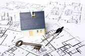 Plans house — Stock Photo