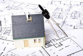 House on plans — Foto de Stock