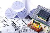 House plans — Stock Photo