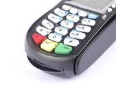 Terminala kart kredytowych na białym tle. — Zdjęcie stockowe