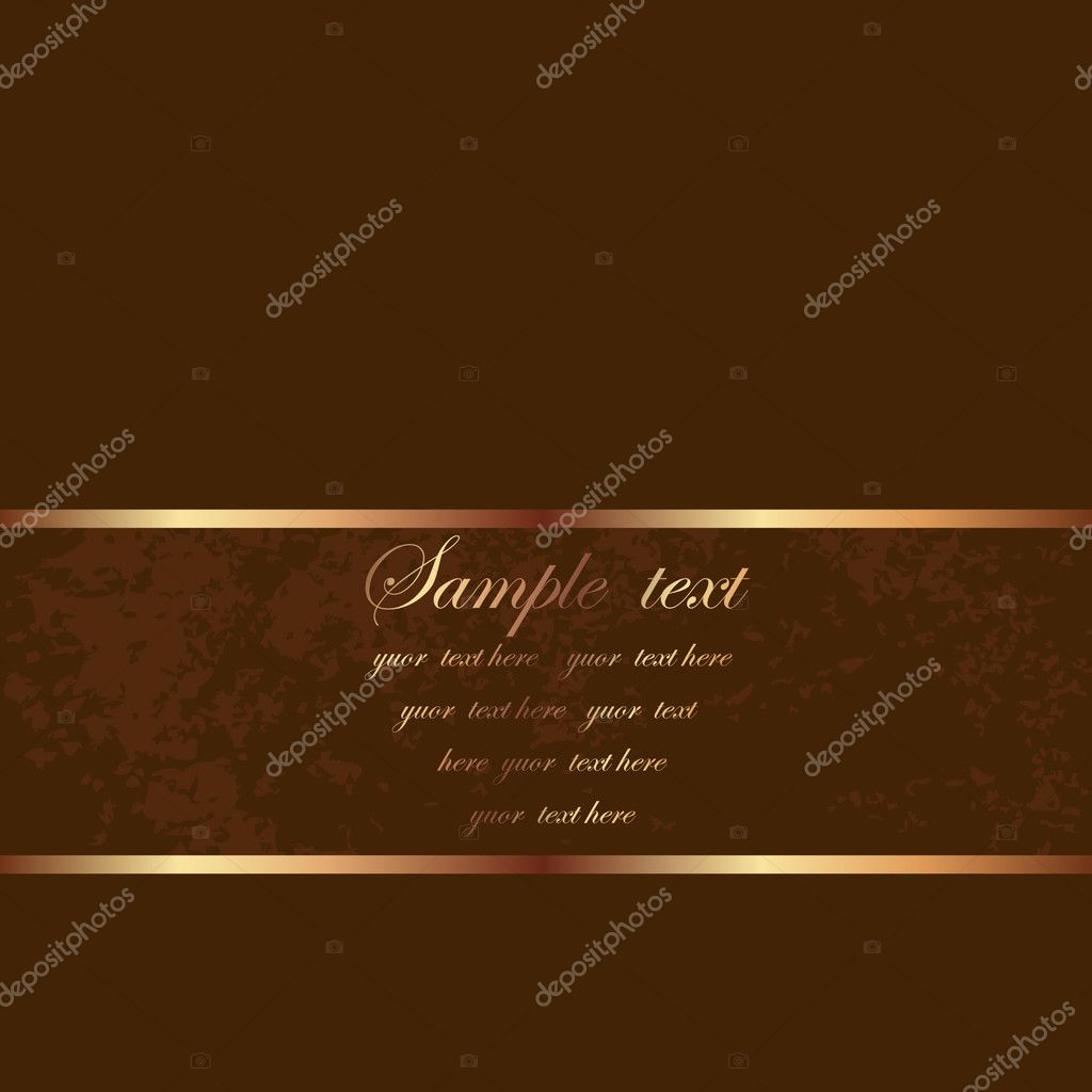 Card brown  — Stock Vector #2762793