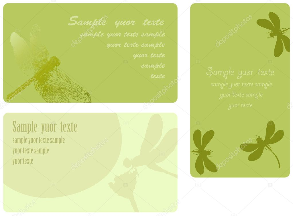 Set of summer cards, place for the text — Stock Vector #3476521