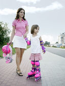 I love rollerblades! — Stock Photo