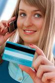 Teléfono de compras — Foto de Stock
