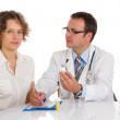 Stock Photo: Doctor and patient