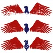 Stock Vector: American eagle