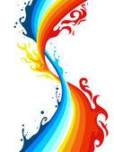 水与火 — 图库矢量图片
