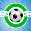 Flying soccer ball - 图库矢量图片