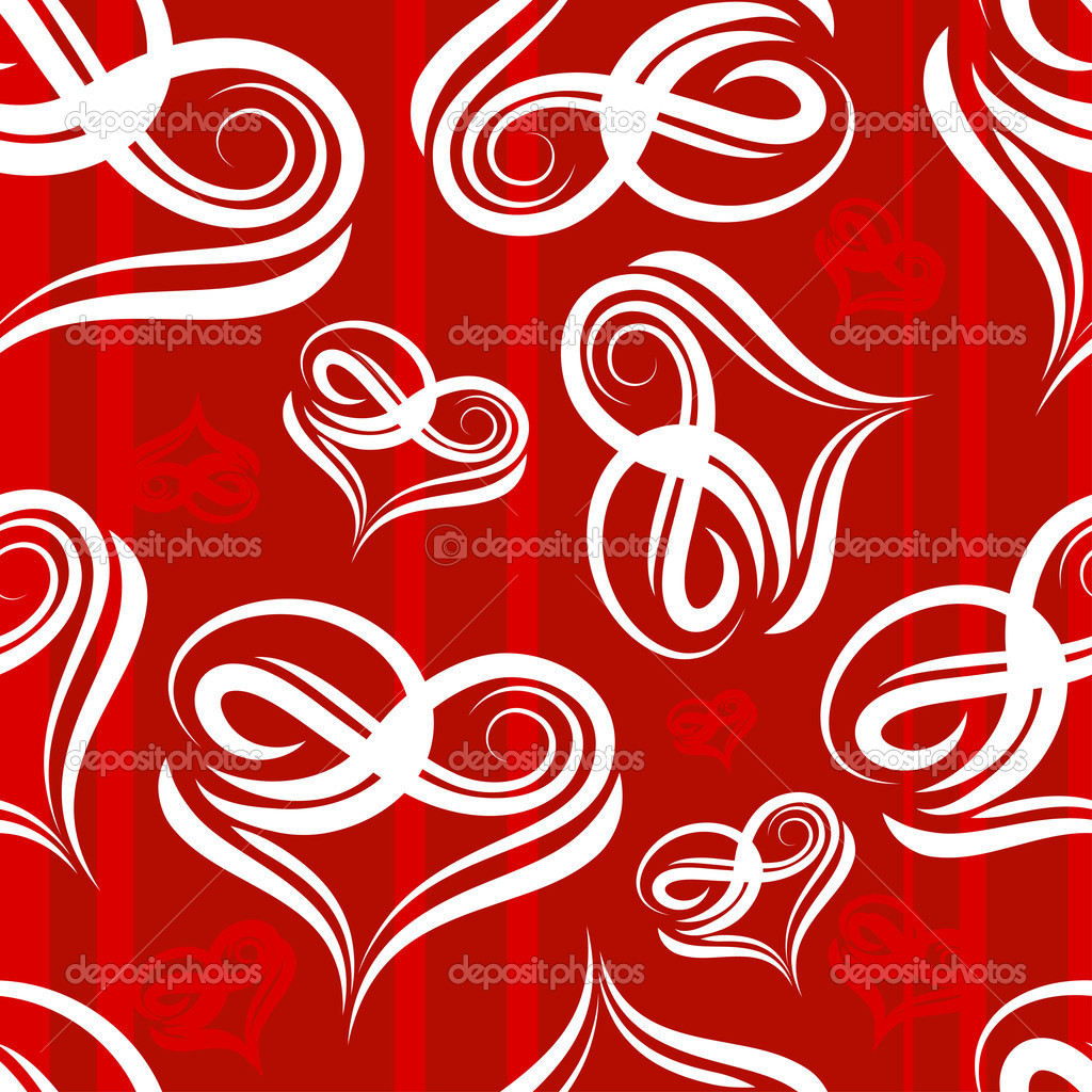 Seamless background with heart shape — Stock Vector #2930824