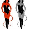 Devil girl — Image vectorielle