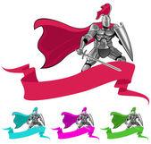 Ridder en banner — Stockvector