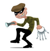泥棒 — ストックベクタ
