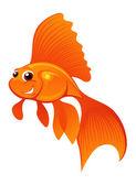 счастливый золотая рыбка — Cтоковый вектор