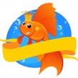 Goldfish and banner — Image vectorielle