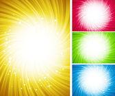 Leuchtende farbe hintergrund — Stockvektor