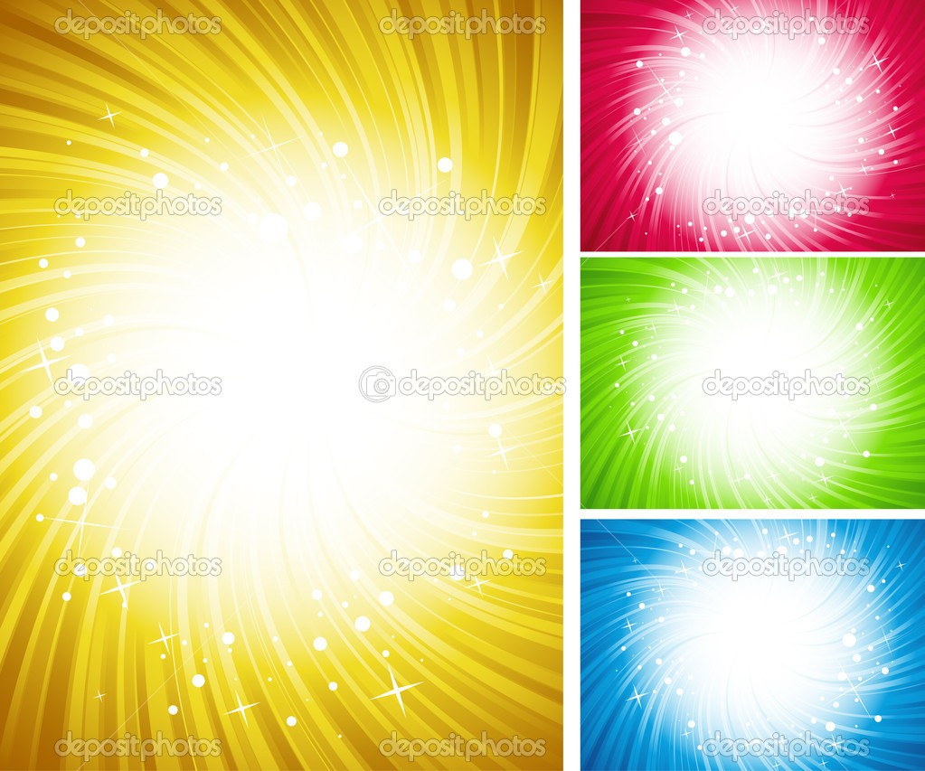 Vector illustration of four shining color backgrounds — Stock Vector #3285194