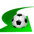 Arrow with soccer ball — Imagen vectorial