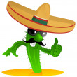Mexican cool cactus - Imagens vectoriais em stock