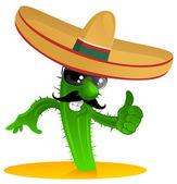 Mexický kaktus cool — Stock vektor