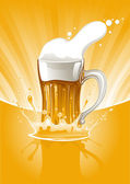 Mug fresh beer — Stock Vector