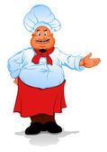 Vet chef kok — Stockvector