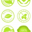 Stock Vector: Set of natural product stamps