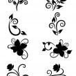 Set of floral element for design — Imagen vectorial
