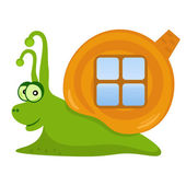 Happy Snail — Stock Vector